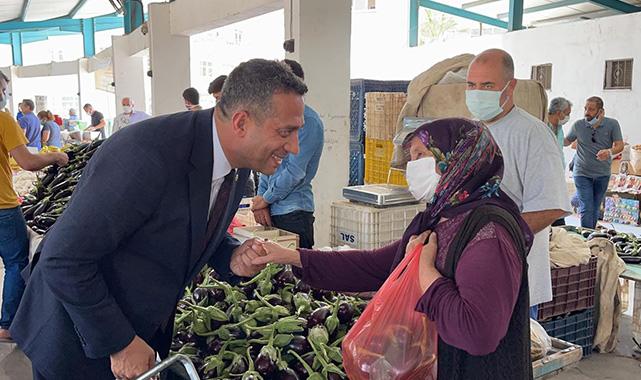 CHP'li Başarır çiftçiyle, köylüyle bir araya geldi